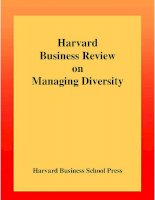 Harvard Business Review on Managing Diversity potx