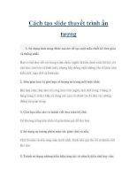 Cách tạo slide thuyết trình ấn tượng pdf