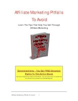 Affiliate Marketing Pitfalls To Avoid Learn The Tips That Help You Sail Through Affiliate potx