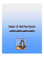 Operating System Concepts - Chapter 19: Real-Time Systems ppt