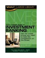 Vault Career Guide to Investment Banking pot