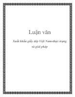 Luận văn: Xuất khẩu giầy dép Việt Nam-thực trạng và giải pháp potx