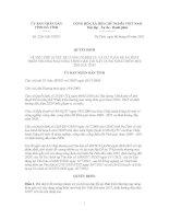 Quyết định Số: 2261/QĐ-UBND VỀ VIỆC PHÊ DUYỆT ĐỀ CƯƠNG NHIỆM VỤ VÀ DỰ TOÁN ĐỀ ÁN PHÁT TRIỂN THƯƠNG MẠI NÔNG THÔN GẮN VỚI XÂY DỰNG NÔNG THÔN MỚI TỈNH HÀ TĨNH docx