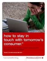 how to stay in touch with tomorrow's consumer potx
