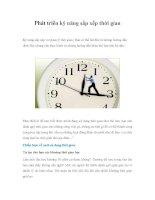 Phát triển kỹ năng sắp xếp thời gianKỹ năng sắp xếp và Quản lý thời gian | pdf