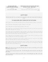 Quyết định Số: 31/2012/QĐ-UBND VỀ BAN HÀNH MỨC THU, SỬ DỤNG LỆ PHÍ CẤP GIẤY PHÉP KINH DOANH VẬN TẢI BẰNG XE Ô TÔ pot