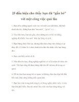 """25 dấu hiệu cho thấy bạn đã """"gắn bó"""" với một công việc quá lâu pptx"""