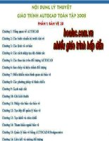 Nội dung lý thuyết Giáo tình AutoCad toàn tập 2008 docx