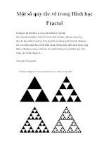 Một số quy tắc vẽ trong Hình học Fractal pdf