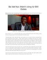 Ba bài học thành công từ Bill Gates pdf