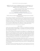 Báo cáo khoa học : PHÂN LẬP, TUYỂN CHỌN VÀ ĐÁNH GIÁ CÁC ĐẶC TÍNH PROBIOTIC CỦA MỘT SỐ CHỦNG VI SINH VẬT HỮU ÍCH ĐỂ SẢN XUẤT CÁC CHẾ PHẨM PROBIOTIC DÙNG TRONG CHĂN NUÔI ppt