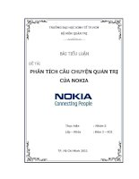 Tiểu luận: Phân tích câu chuyện quản trị của Nokia ppt