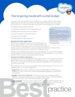 How to get big results with a small budget pot