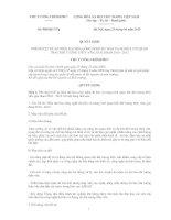 QUYẾT ĐỊNH PHÊ DUYỆT ĐỀ ÁN HIỆN ĐẠI HÓA CÔNG NGHỆ DỰ BÁO VÀ MẠNG LƯỚI QUAN TRẮC KHÍ TƯỢNG THỦY VĂN, GIAI ĐOẠN 2010 - 2012 docx