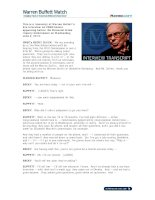 This is a transcript of Warren Buffett''''s live interview on CNBC before appearing docx