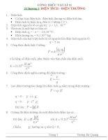 Công thức vật lý 11 .Chương 1: Điện tích - điện trường doc