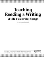teaching reading and writing with favorite songs