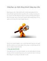 Giúp bạn xác định đúng khách hàng mục tiêu pdf