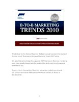 6 th EditionB-TO-B MARKETINGTRENDS 2010 ppt