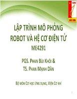 LẬP TRÌNH MÔ PHỎNG ROBOT VÀ HỆ CƠ ĐIỆN TỬ ME4291 pdf