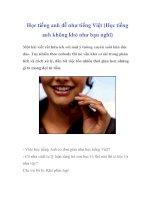 Học tiếng anh dễ như tiếng Việt (Học tiếng anh không khó như bạn nghĩ) docx