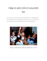 Giúp trẻ phát triển kỹ năng lãnh đạo pdf