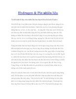 Hydrogen & Pin nhiên liệu potx