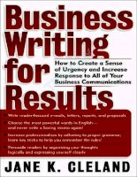 Business Writing for Results pot