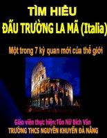 ĐẤU TRƯỜNG LA MÃ (Italia) potx