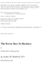 Project Gutenberg''''s The Rover Boys in Business, by Arthur M. Winfield pot