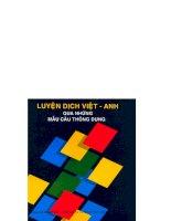 Luyện dịch Việt - Anh và mẫu câu thông dụng doc