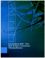 Lisa Cameron 2010 – 2011 How To Start A Foreclosure Cleaning Business pot