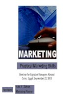 Practical Marketing Skills Seminar for Egyptair Managers Abroad Cairo, Egypt, September 22, 2005 pdf