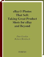 eBay Photos That Sell Taking Great Product Shots for eBay and Beyond pptx