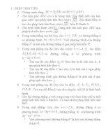 Bài tập cơ bản về phép biến hình trong mặt phẳng doc