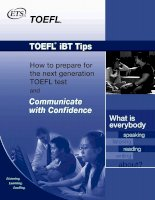 TOEFL IBT tips How to prepare for  the next generation  TOEFL test and Listening.  Learning. Leading. Communicate with Confidence