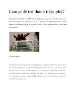 Làm gì để trở thành triệu phú? pdf