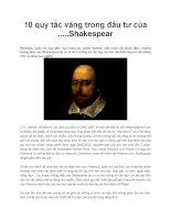 10 quy tắc vàng trong đầu tư của .....Shakespear doc