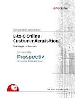 An eMarketer White PaperB-to-C Online Customer Acquisition:Ten Steps to Success Sponsored pot