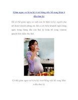 Giảm nguy cơ bị tự kỷ ở trẻ bằng việc bổ sung folat ở đầu thai kỳ pdf