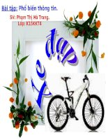 bài thuyết trình  xe đạp