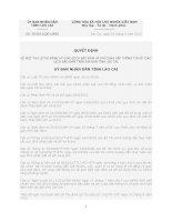 Quyết định Số: 38/2012/QĐ-UBND VỀ MỨC THU LỆ PHÍ ĐĂNG KÝ GIAO DỊCH BẢO ĐẢM VÀ PHÍ CUNG CẤP THÔNG TIN VỀ GIAO DỊCH BẢO ĐẢM TRÊN ĐỊA BÀN TỈNH LÀO CAI doc
