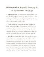 10 bí quyết để có được việc làm ngay từ khi bạn còn chưa tốt nghiệp potx