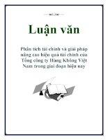Luận văn: Phân tích tài chính và giải pháp nâng cao hiệu quả tài chính của Tổng công ty Hàng Không Việt Nam trong giai đoạn hiện nay doc