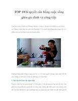 TOP 10 bí quyết cân bằng cuộc sống giữa gia đình và công việcLisa Druxman, CEO pdf
