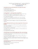 70 CÂU TRẮC NGHIỆM MAC – LENIN CÓ ĐÁP ÁN - NGUYỄN PHƯỚC pdf