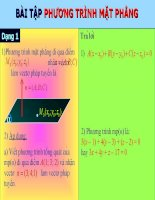 bài tập phần phương trình mặt phẳng