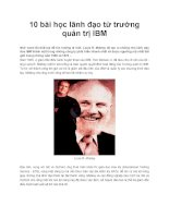 10 bài học lãnh đạo từ trường quản trị IBM pptx
