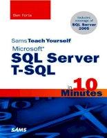 Teach Yourself Microsoft Sql Server T-Sql In 10 Minutes pptx