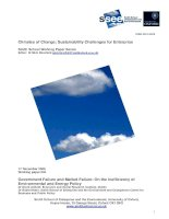 Climates of Change: Sustainability Challenges for Enterprise pdf